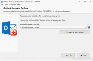 Outlook Recovery Toolbox Crack 4.7.15.77 + Keygen Latest 2021